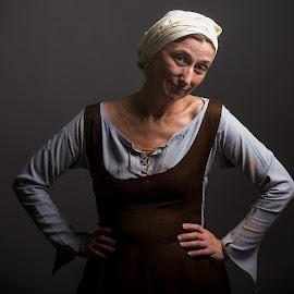 Cecilia by Horacio Casadey - People Portraits of Women ( antique, medieval, women, cecilia )