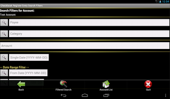 Screenshot of (Demo) Checkbook Register