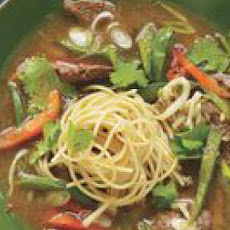 Pepper Steak Noodle Soup