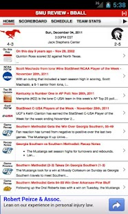 SMU Football & Basketball - screenshot