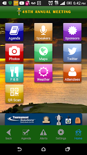 IAGA meeting app - screenshot