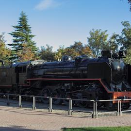 Mikado Locomotive. by Francisco García Ríos - Transportation Trains ( ferrocarril, españa, engine, trenes, locomotora, spain, lokomotive, railway, locomotive, mikado, eisenbahn, albacete, trains,  )