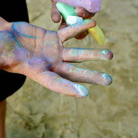 Chalk Hands by Stephen Andersen - Abstract Patterns