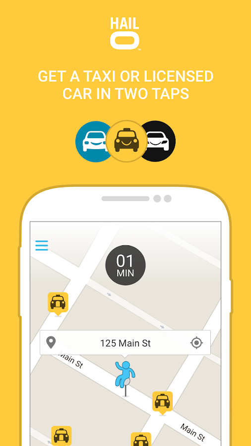 Hailo - The Taxi Booking App Screenshot
