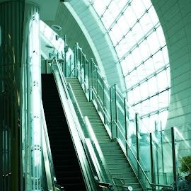 dubai airport by Magdalena Wysoczanska - Buildings & Architecture Other Interior ( airport, interior, art, glass, high, tech, design, escalator )