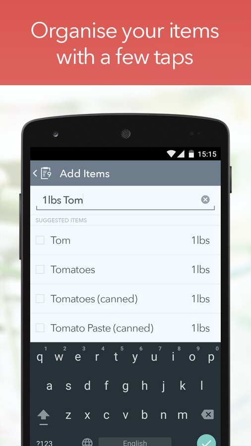 MyGrocery Screenshot 1
