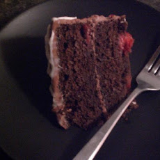 Chocolate Cherry Cake with Chocolate Cream Cheese Frosting