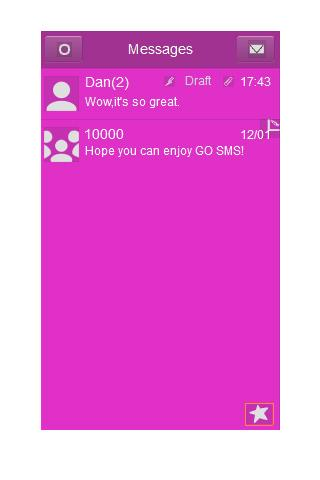GO SMS Theme - Just Pink