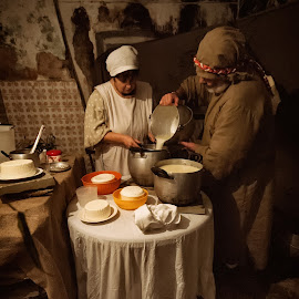 Cheese Makers by Stefania Kleynendorst - People Couples