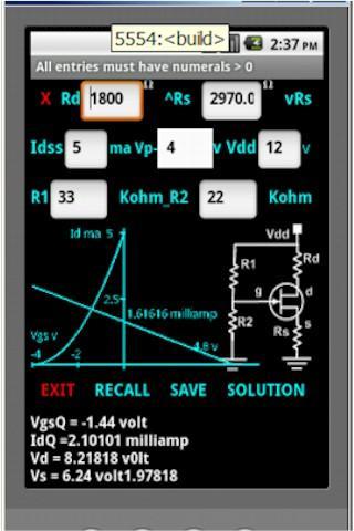 【免費教育App】JFET Voltage Divider Bias-APP點子