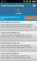 Screenshot of Daily Horoscope Reading