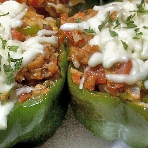 Meaty, Cheesy Stuffed Bell Peppers