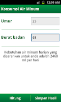 Screenshot of Kalkulator Sehat