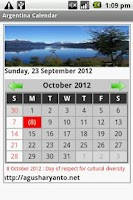 Screenshot of Argentina Calendar 2013