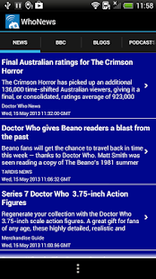 Doctor Who WhoNews Lite - screenshot