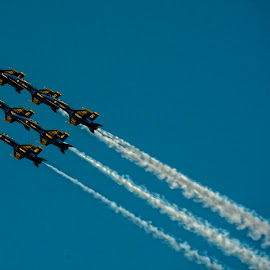 Blue Angels aerial show by Gene Myers - News & Events Entertainment ( shotsbygene, f/a-18, jets, demonstration, us navy, gene myers, formation, air show, blue angels,  )