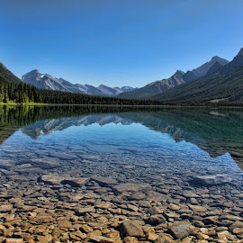 Glassy Lake by Darlene Stewart - Landscapes Mountains & Hills ( alberta, canmore,  )