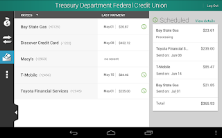 Screenshot of Treasury Department FCU