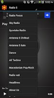 Screenshot of Macedonian Radios