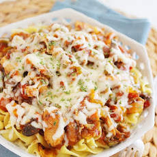 Cheesy Crockpot Chicken Cacciatore