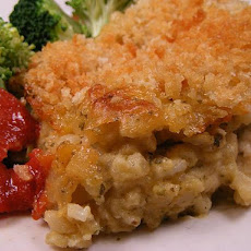 Cheesy Pesto Rice 'n Chicken Bake