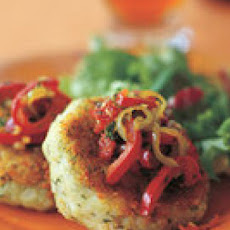 Cod Cakes with Pepper Relish