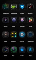 Screenshot of Black Elf GO Launcher Theme