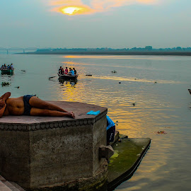 Varanasi Morning  by Sanuj Goswami - Novices Only Objects & Still Life ( Lighting, moods, mood lighting )