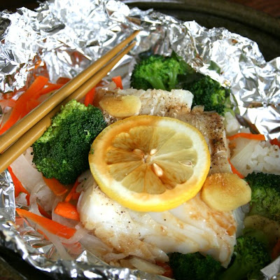 Ginger Lemon Cod Meal in Foil