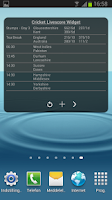 Screenshot of Cricket Livescore Widget