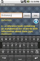 Screenshot of Droid Dictionary /w Wiki