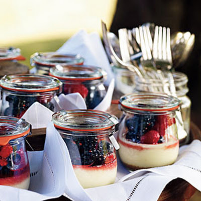 Goat Cheese Cheesecakes with Summer Berries