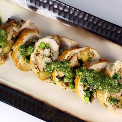 Stuffed Chicken with Salsa Verde