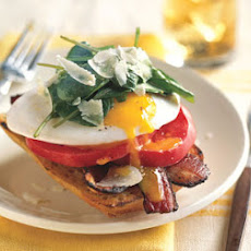 Open-Face Bacon-and-Egg Sandwiches with Arugula