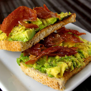 Avocado Toast with Crisped Prosciutto