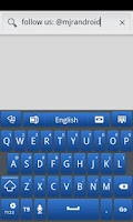 Screenshot of Blue Galaxy GO Keyboard Theme