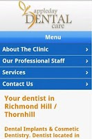 Screenshot of AppleDay Dental Care
