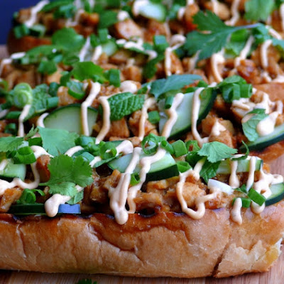 Open Faced Thai Chicken Sandwiches