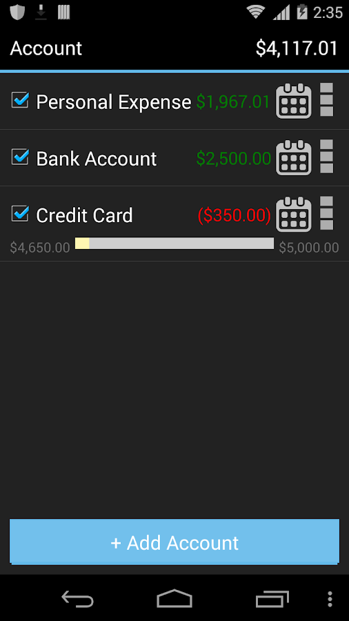 My Wallet - Expense Manager Screenshot 1