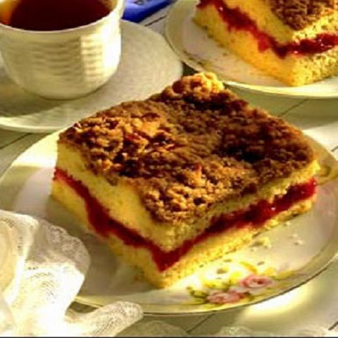 Easy Cherry Coffee Cake