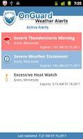 Screenshot of Onguard Weather Alerts