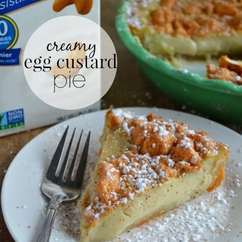 Creamy Egg Custard Pie