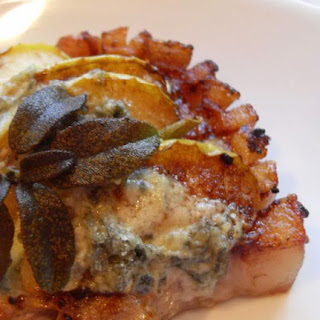*Perfect Pork Chops with Apples, Sage and Stilton*