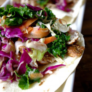 Jerk Chicken & Simple Vinaigrette Slaw Tacos (GF)