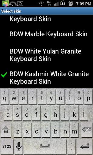 White Kashmir Keyboard Skin