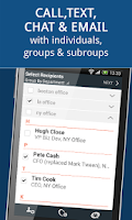Screenshot of Communication for Groups