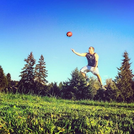 I still have the hops! Throwing the football around with my brother today. by Jason Butts - Sports & Fitness American and Canadian football
