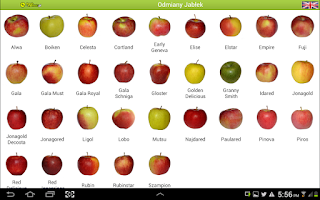 Screenshot of Varieties of apples