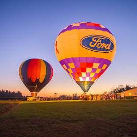 Balloon Glow by Melanie Ayers Wells-Photography - Transportation Other ( glow, balloons, hot air balloons )