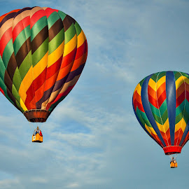 Dual Balloons by Lou Plummer - News & Events US Events ( iredell county, hot air balloon, sky, colors, balloon fest, balloon,  )